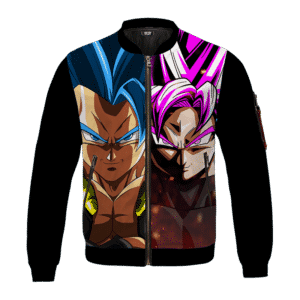 DBZ Gogeta Blue Goku Black Super Saiyan Rose Excellent Bomber Jacket