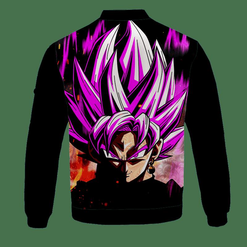 DBZ Goku Black Super Saiyan Rose Cool Dope Black Bomber Jacket