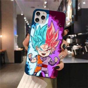 DBZ Goku Blue Goku Black iPhone 12 (Mini, Pro & Pro Max) Cover