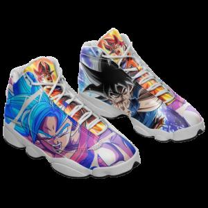 DBZ Super Saiyan Goku God Blue Ultra Instinct Basketball Shoes - Mockup 1