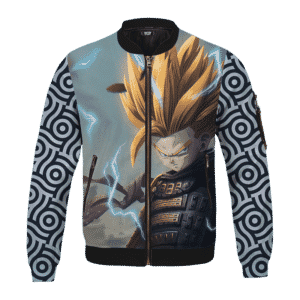 DBZ Trunks Samurai Fan Art Japanese Pattern Bomber Jacket