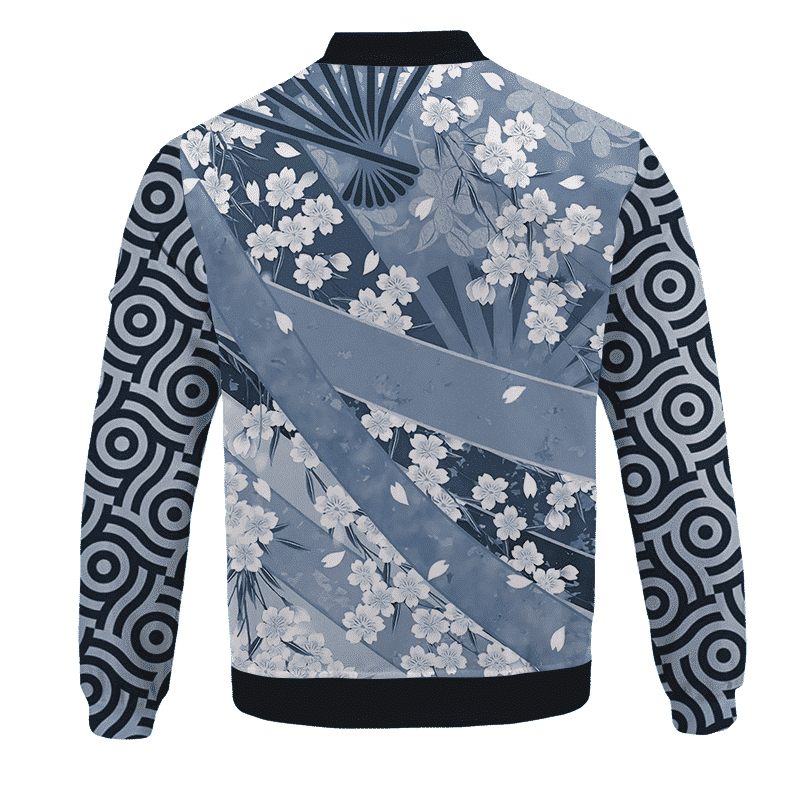 DBZ Trunks Samurai Fan Art Japanese Pattern Bomber Jacket - back