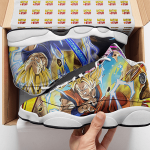 Dragon Ball Goku Kid Buu Vegeta Awesome Collectors Item Basketball Shoes - Mockup 2