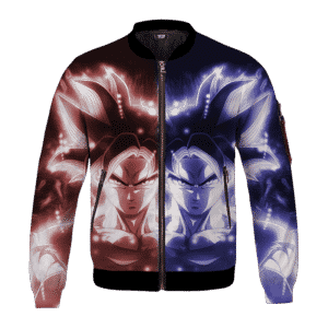 Dragon Ball Goku Ultra Instinct Red And Blue All Over Print Bomber Jacket
