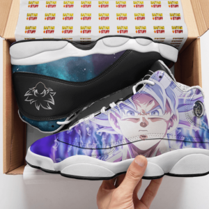 Dragon Ball Goku Ultra Instinct Whis Symbol Basketball Shoes - Mockup 2