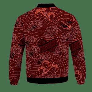 Dragon Ball Jiren Vector Japanese Dragon Red Bomber Jacket