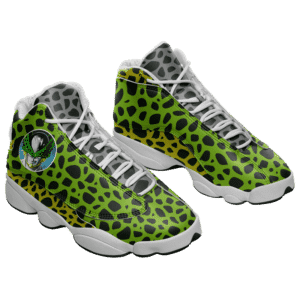 Dragon Ball Perfect Cell Pattern Awesome Basketball Shoes - Mockup 1