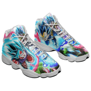 Dragon Ball Saiyan Blue Goku Vegeta Gogeta Basketball Sneakers - Mockup 1