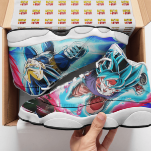 Dragon Ball Saiyan Blue Goku Vegeta Gogeta Basketball Sneakers - Mockup 2