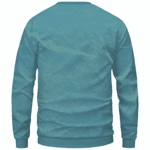 Dragon Ball Stoned Super Saiyan Blue Vegeta Marijuana Nug Cool Crewneck Sweater - Back Mockup