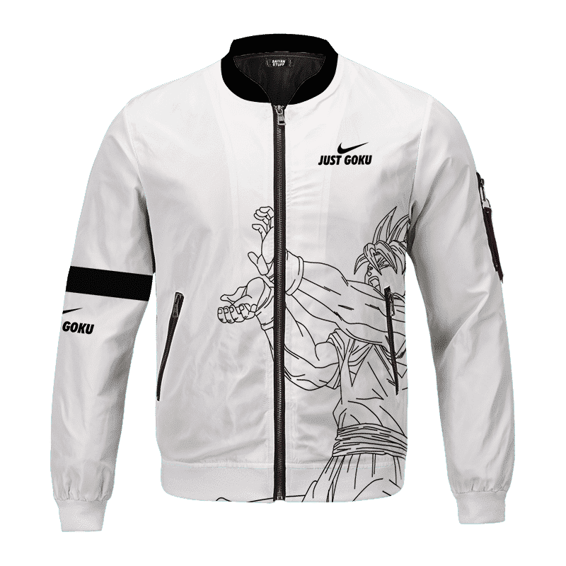 Dragon Ball Super Just Goku Nike Inspired Bomber Jacket