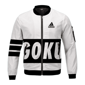 Dragon Ball Super Saiyan Goku Adidas Inspired Bomber Jacket