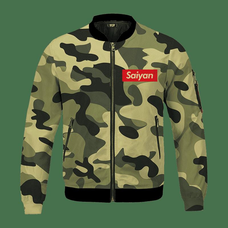 Dragon Ball Supreme Saiyan Camouflage Breezy Bomber Jacket