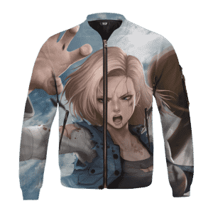 Dragon Ball Z Cell Saga Android 18 Fight Bomber Jacket