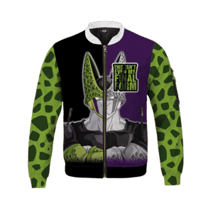 Dragon Ball Z Cell inspired Pattern Awesome Bomber Jacket