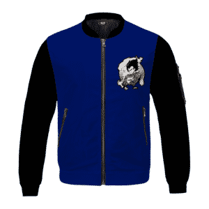 Dragon Ball Z Classic Vegeta Black Blue Bomber Jacket