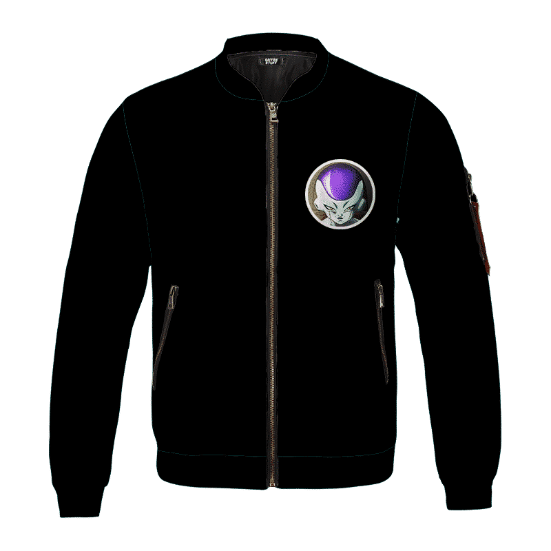 Dragon Ball Z Frieza Chilling Minimalist Black Bomber Jacket