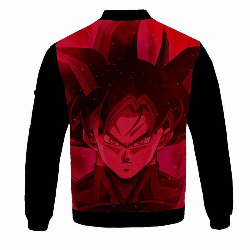Dragon Ball Z Goku Black Awesome Red Bomber Jacket - back