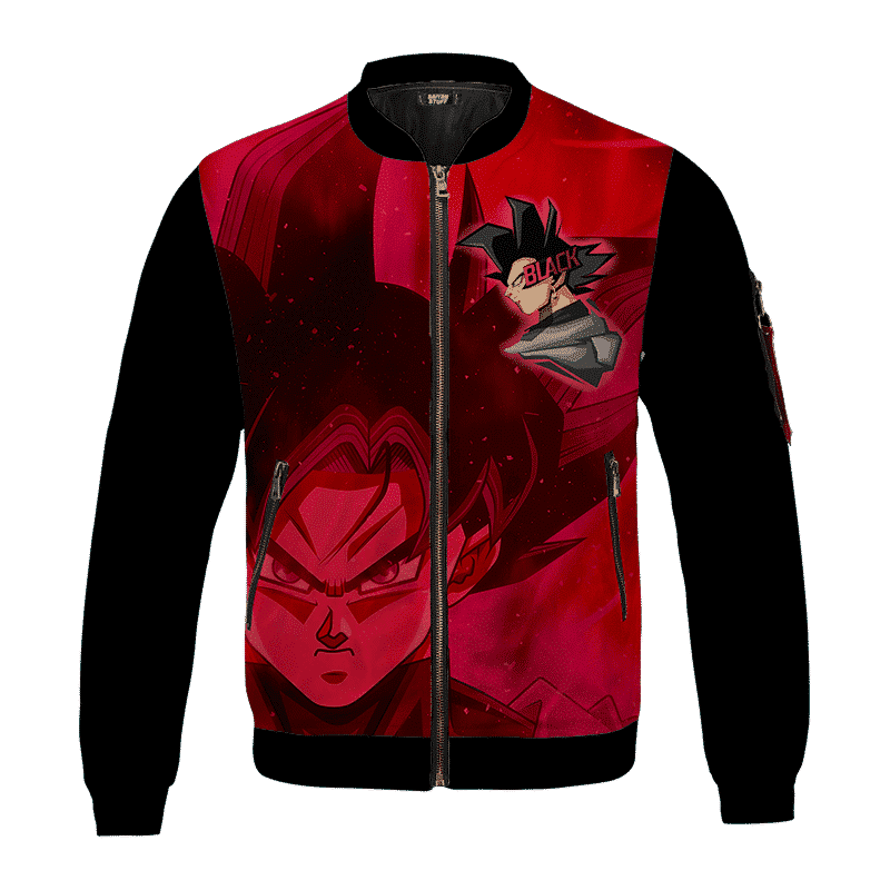 Dragon Ball Z Goku Black Awesome Red Bomber Jacket