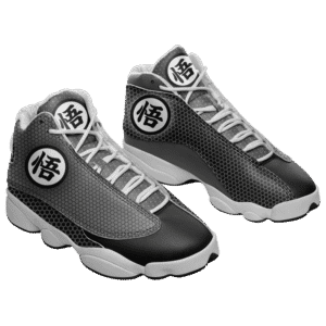 Dragon Ball Z Goku's Kanji Black and Grey Basketball Sneakers
