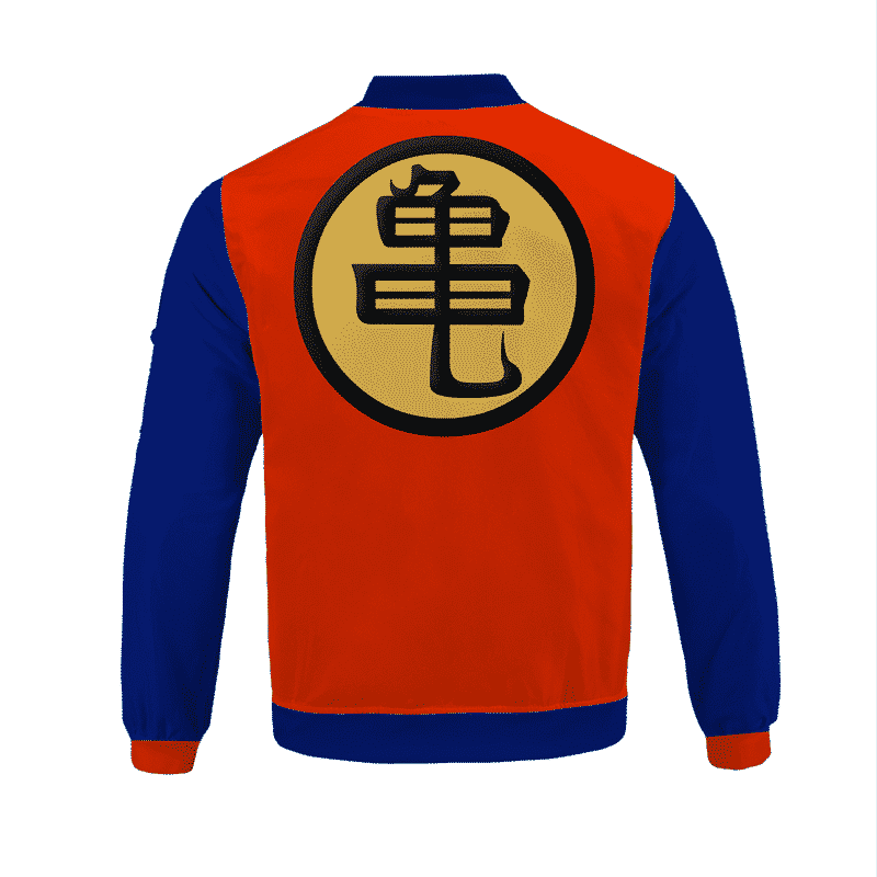 Dragon Ball Z Master Roshi Kanji Turtle Uniform Bomber Jacket