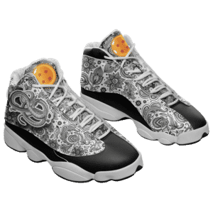 Dragon Ball Z Shenron Floral Pattern Basketball Sneakers