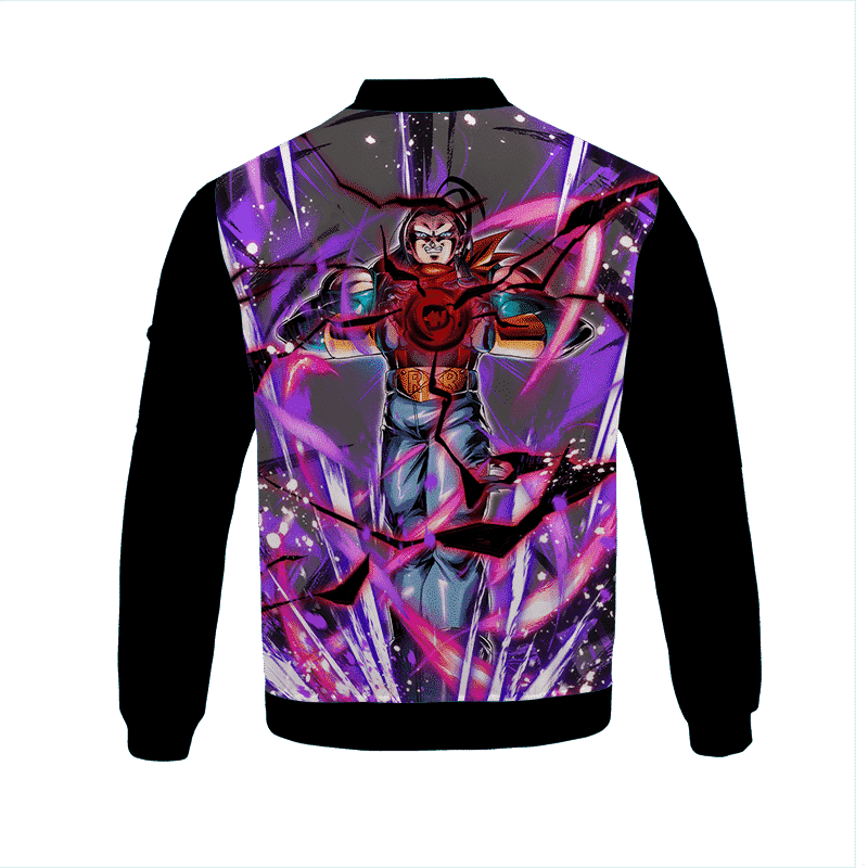 Dragon Ball Z Super Android 17 Powerful Graphic Bomber Jacket