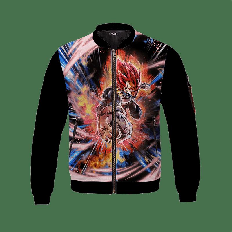 Dragon Ball Z Super Saiyan God Vegeta Amazing Bomber Jacket