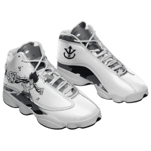 Dragon Ball Z Super Saiyan Prince Vegeta Camo Style Basketball Sneakers