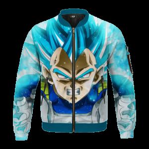 Dragon Ball Z Vegeta Super Saiyan Blue Awesome Bomber Jacket