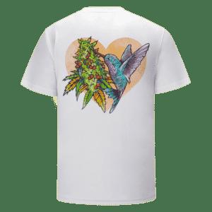 Grape Ape Monkey Marijuana Strain Trippy Vector Art White T-shirt