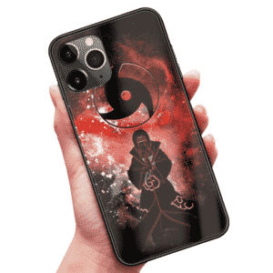 Itachi Hand Jutsu Sharingan Symbol Bloody iPhone 12 Cover