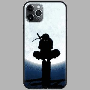 Itachi Uchiha Bright Full Moon Silhouette iPhone 12 Case