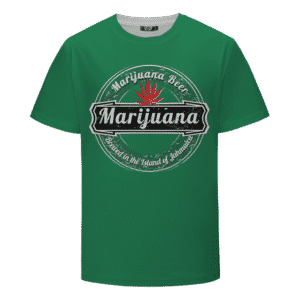 Marijuana Heineken Logo Spoof Awesome Green T-shirt