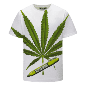 Marijuana Leaf 420 Weed Kush High Life Dope White T-shirt