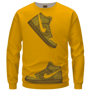Marijuana Nike Inspired Air Jordan Sneaker Head Orange Sweater