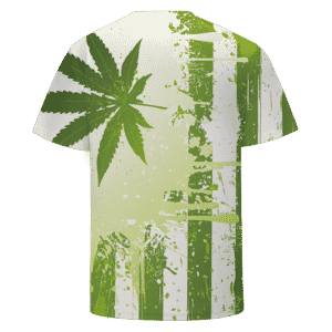 Marijuana Pot Weed Hemp Flag Green Dope Cool T-shirt