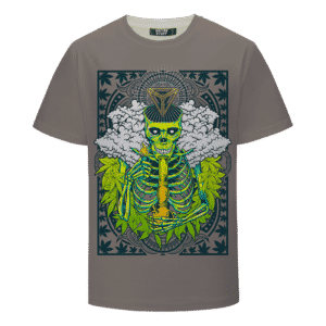 Marijuana Skull Bong Weed Hemp Cool Design T-shirt
