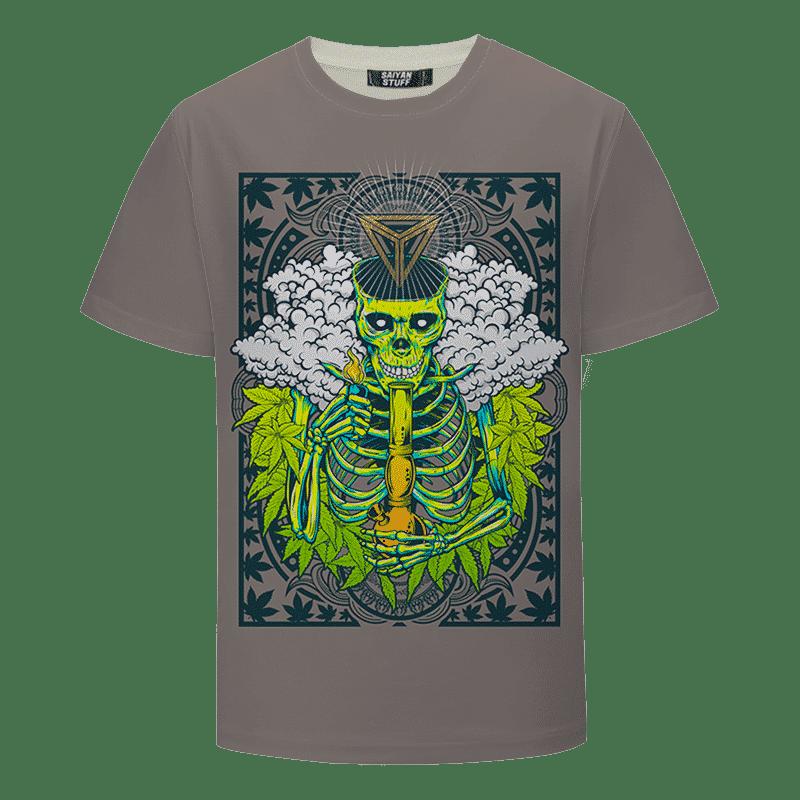 Marijuana Skull Bong Weed Hemp Cool Design T-shirt