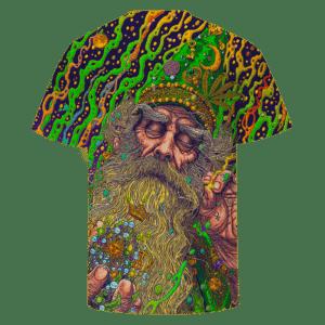 Marijuana Wizard Psychedelic Trippy Art Awesome T-shirt