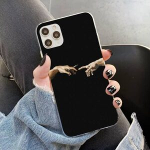 Michelangelo Pass The Weed Bud Black iPhone 12 Cover