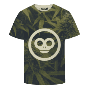 Green Monkey Marijuana Plant Minimalist Awesome T-shirt