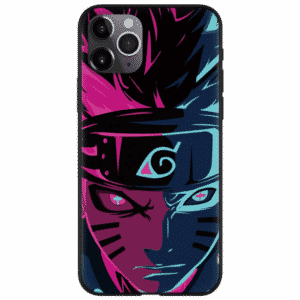 Naruto Six Paths Sage Mode Neon Pink Blue iPhone 12 Case