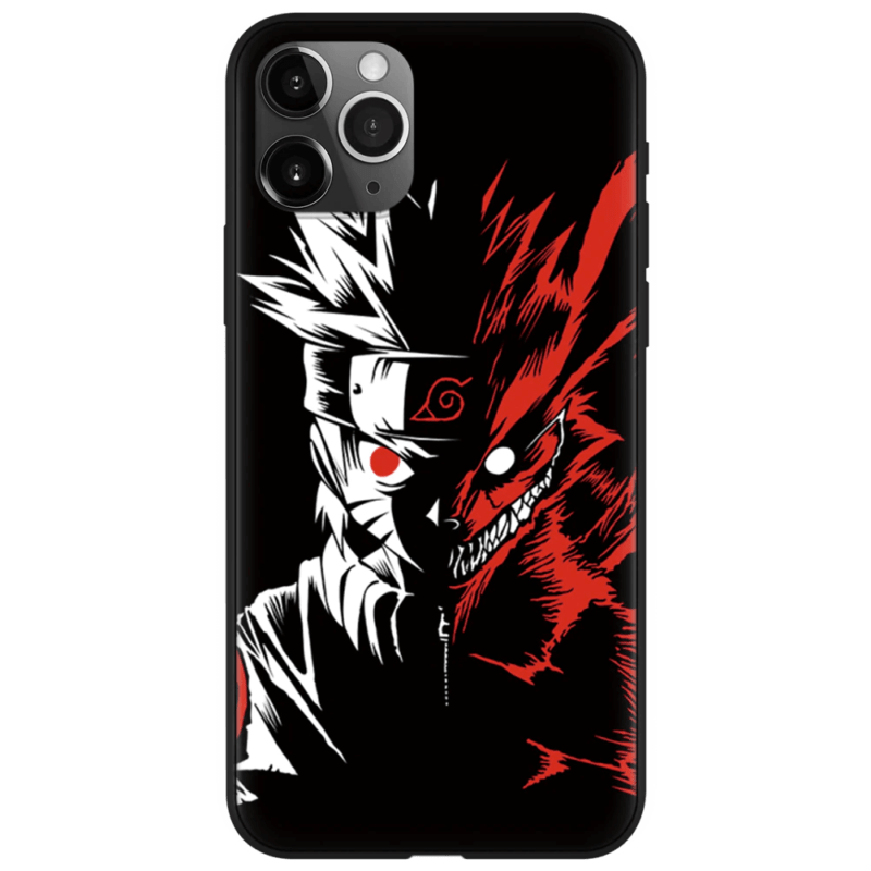 Naruto Two-Face Kurama Evil Look Dope Black iPhone 12 Case