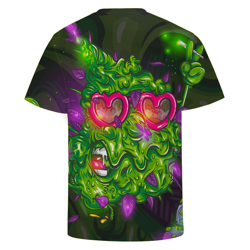Party Vector Nug Holding A Joint Stoner Dope T-shirt