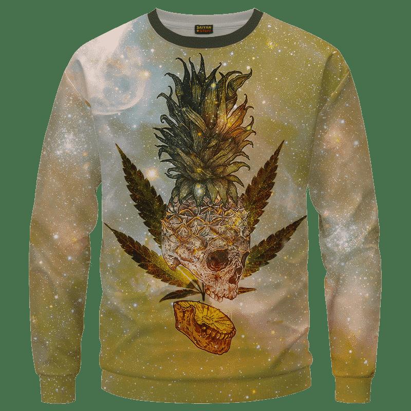Pineapple Marijuana King Galaxy Dope Crewneck Sweater