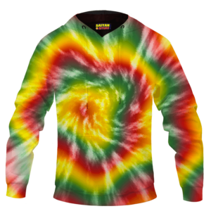 Reggae Inspired Tie Dye For The Stoners Dope Hoodie