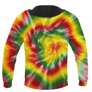 Reggae Inspired Tie Dye For The Stoners Dope Hoodie - back