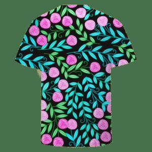 Rose Floral Marijuana Weed Logo Cool Breezy T-shirt