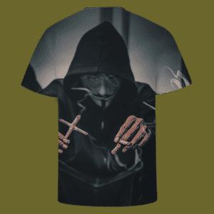 Smoking Joint Marijuana V For Vendetta Mask Dope T-shirt